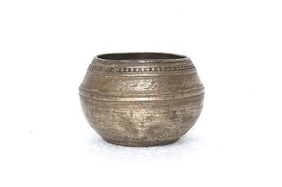 Old Vintage Rare Antique Indian Brass Small Carved Bowls Collectible PA-76