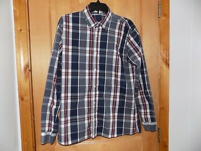 6980c9f813be7 H2H Men s Casual Slim Fit Button-Down Shirt US Large (Asia XX-Large
