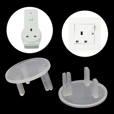 10 Pcs UK Power Socket Cover Plugs Kids Baby Electrical Safety Protector Sockets