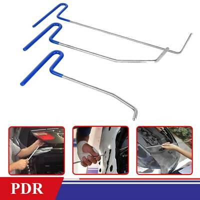 3pcs Paintless Dent Puller Rods Hail Removal Tools Car Body Repair Kit US
