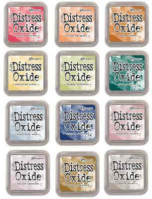 Tim Holtz Distress Oxide Pad Set (12 Colours Set) - Set 5, Set 4, Set 3