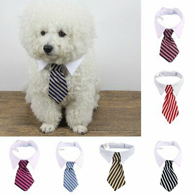Pet Puppy Dog Cat Neck Tie Mix Color Polyester Adjustable Bow Ties Dog Grooming