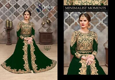 Anarkali Suits Designer Lehenga Girls Gown Embroidery Indian