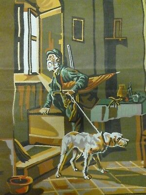 """Collection D 'Art """"Le Chasseur"""" The Hunter Tapestry Canvas #139 (60 x 80)*BN"""