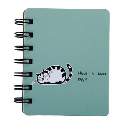 Mini Pocket Notebook Portable Journal Diary Book Cat Plant Cover Note Book GA