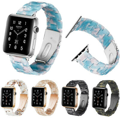 Tortoise shell Resin Bracelet Watch Band For Apple Watch 38mm 42mm iWatch Strap