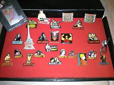 Collection de 25 Pin's Sylvester Stallone Rocky Rambo Cobra Over the Top...