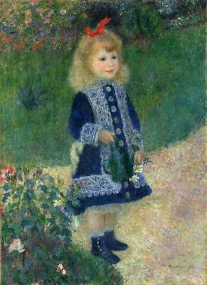 A Girl with a Watering Can Auguste Renoir 25 x 20 cm Polly Canvas Print 1876