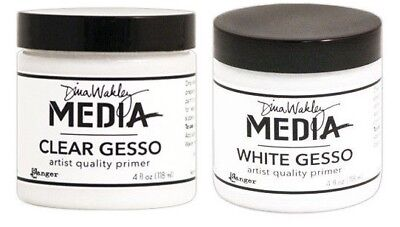 Dina Wakley Gesso - Media Mediums Large (Clear and White Gesso)