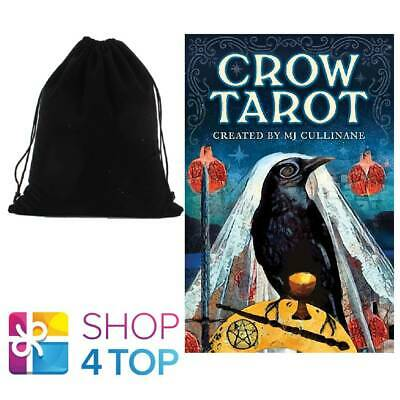 Crow Tarot Cards Deck Mj Cullinane Esoteric Us Games Systems With Velvet Bag
