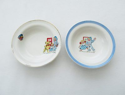 Andy Pandy Pair Pottery Bowls Childrens Kitchen Home Nursery Ware