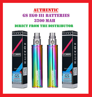 Authentic GS eGo 3 3200 mah Battery GreenSound GS 3 E-Cig Rechargeable Battery