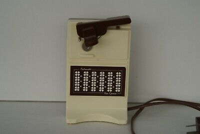 Vintage 1970'S Retro Brown Flowered Electric Can Opener Knife Sharpener