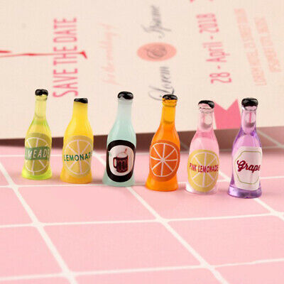6pcs 1/12 dollhouse miniature accessories mini wine bottle simulation model ToyE