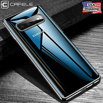 For Galaxy S10/S10+ Plus Slim Clear Transparent Case Rubber TPU Soft Thin Cover