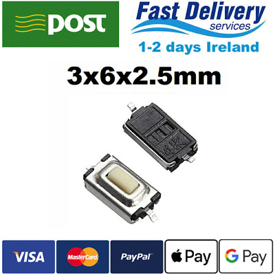 Micro Switch 3X6X2.5mm Tactile Push Button Tact 2-Pin SMD K 5-50pcs