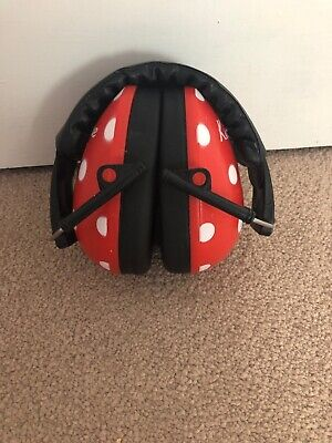 Kids CHILDREN EAR DEFENDERS   EAR MUFFS  Special  Needs Red Polka Dot