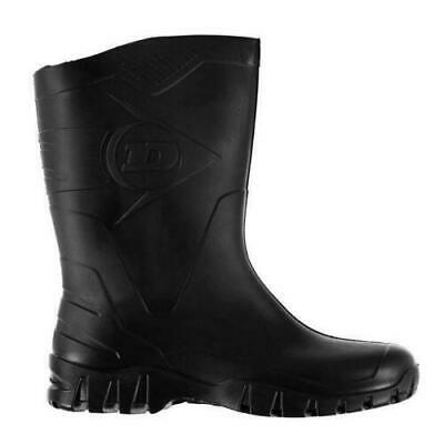 Mens Ladies Dunlop Half Wellingtons Wellies Ankle Rain Mucker Boots New