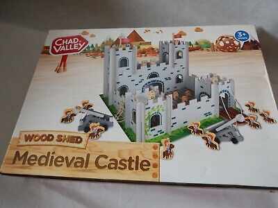 Chad Valley Wood Shed Medieval Castle With Accessories Wooden Play