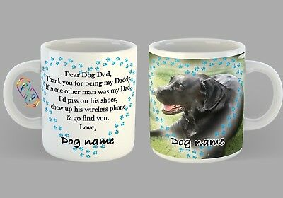 Dog Dad Daddy Mug Funny Pets Fathers Day Christmas Gift Personalised picture