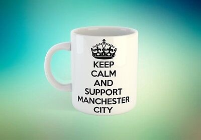 keep calm and support Manchester City cup novelty tea coffee mug gift present
