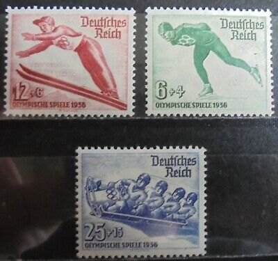 GERMANY Third Reich 1935 Winter Olympic Games Complete Set of 3 m/h