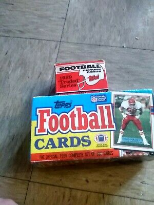e23720d0c28 1989 TOPPS FOOTBALL Card Complete FACTORY SET and Topps traded 2 sets  aikman rc