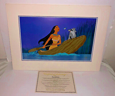 disney pocahontas cel just around the river bend rare animation art edition cell