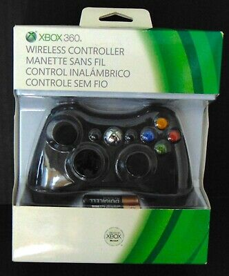 Authentic 2012 Microsoft Xbox 360 Gamepad Wireless Game Controller Black