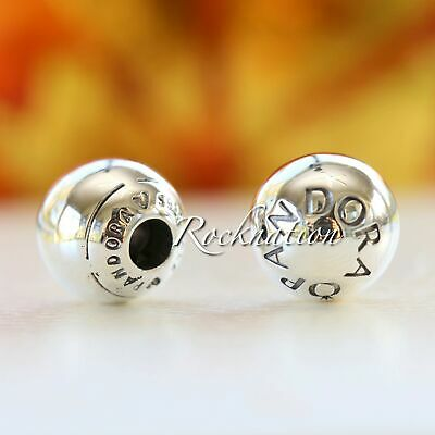 PANDORA Logo Caps #796489 Authentic Pandora Sterling Silver Caps