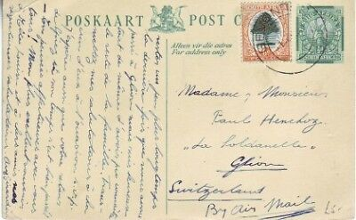 South Africa - No Picture Post Card (Post Card) 1936