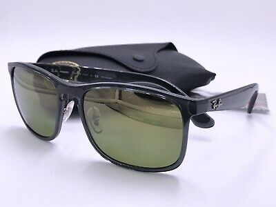 3222797be8 Ray Ban RB4264 876 6O POLARIZED Green Mirror CHROMANCE   Grey AUTHENTIC  ITALY