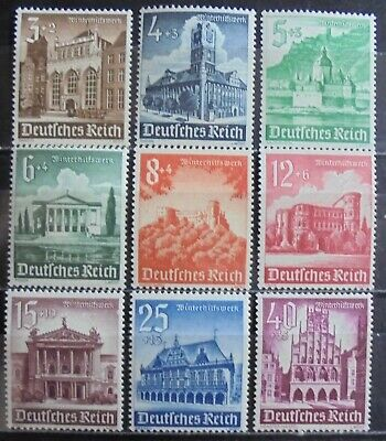 GERMANY Third Reich 1940 Winter Relief Fund,Complete Set of 9 MNH