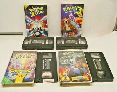 Lot of 4 Pokemon VHS First Movie, Mewtwo Returns, 2000, Movie 3