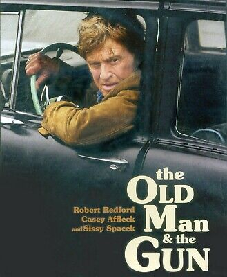 The Old Man & the Gun 2018 PG-13 robbery criminal escape movie, new DVD Redford