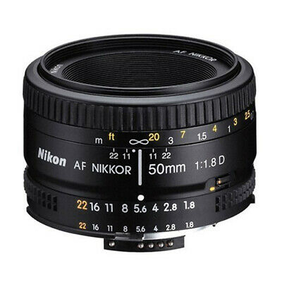Nikon 50mm f/1.8D 1.8 AF Nikkor Autofocus Lens 50 mm for Nikon DSLR Cameras