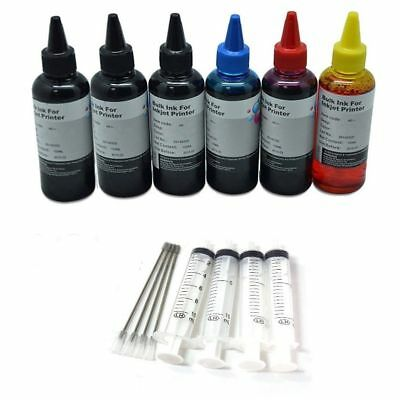 600ml Refill ink kit Combo 4 HP Canon Dell Lexmark Brother Printer cartridges
