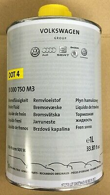 New Genuine VW Audi Seat Skoda 1 Litre DOT 4 Brake Fluid B000750M3 B  000750M3