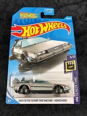 Hot Wheels 2018 HW Screen Time Back To The Future Time Machine Hover Delorean