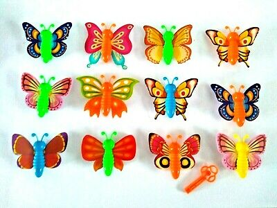 Butterfly Launcher Key Spring Flying Girls Party Bag Toys Fillers Choose Qty