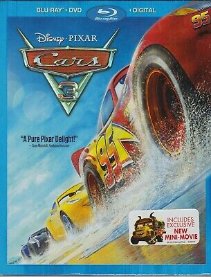 Cars 3 (2-Disc Blu-ray/DVD Set, 2017, Disney/Pixar) NEW / FREE SHIPPING
