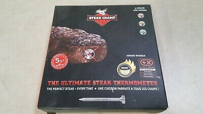 SteakChamp The Ultimate Steak Thermometer, 3 Color, 3rd Generation