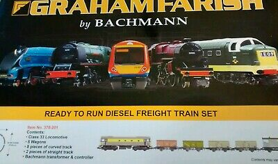 Graham Farish N Gauge Diesel Freight Train Set.