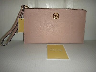 109fe09653ec MICHAEL KORS Women's MK Fulton LG Zip CLUTCH Wrist-let Wallet Blossom  Leather