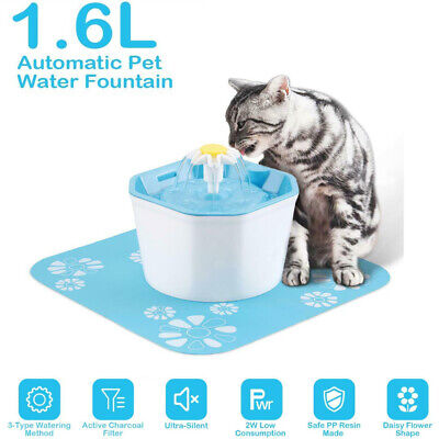 1.6L Automatic Dog Cat Electric Water Fountain USB Pet Bowl Drinking Filter #GB