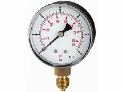 PRESSURE LINE Standardmanometer G 1/4 senkr. ¢ 63 mm 0-10 bar   117-DE