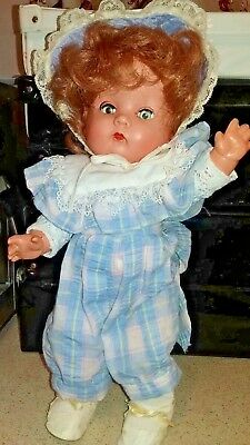 "BND Hard Plastic Toddler Doll from 1950's 14""(36cm)"