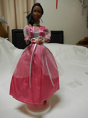 Barbie Doll Clothes - Pink Outfit with dress,shoes,hair decoration,jewellery