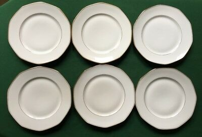 6 Assiettes Plates Porcelaine Limoges Jean Boyer - Art Deco - 1920/1934