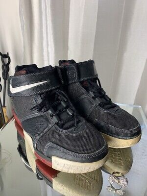 57803000cac 2004 NIKE ZOOM LeBron 2 II Black Red White Size 8.5. 309378-011 ...